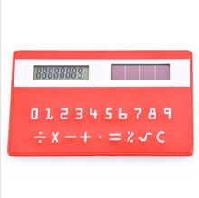 Colorful card customized solar calculator with logo printing for promotion