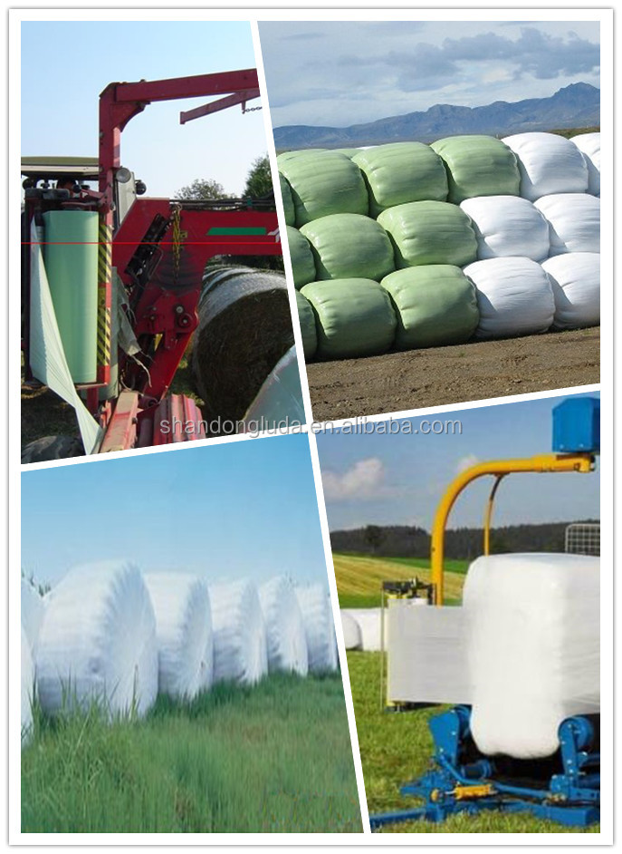 Best stretch silage wrapping film/forage bale membrane wrapping silage bales