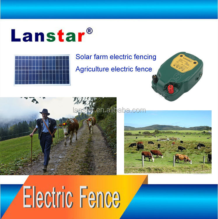 8-30km Effecient Distance Solar Securing Electric Horse Cow Farm Fencing , Elec Power Fence Energizer For Wild Animal