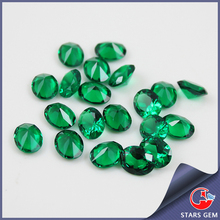 oval cut synthetic gem stone nano green spinel for jewel