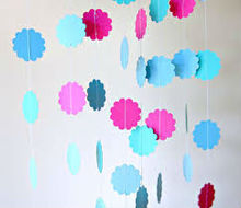 Trends in home design and Interior decoration paper garland