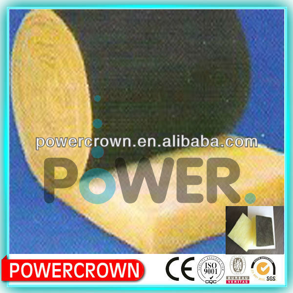 glass wool construction/ top-grade black fiber cloth covered glass wool insulation from Langfang China