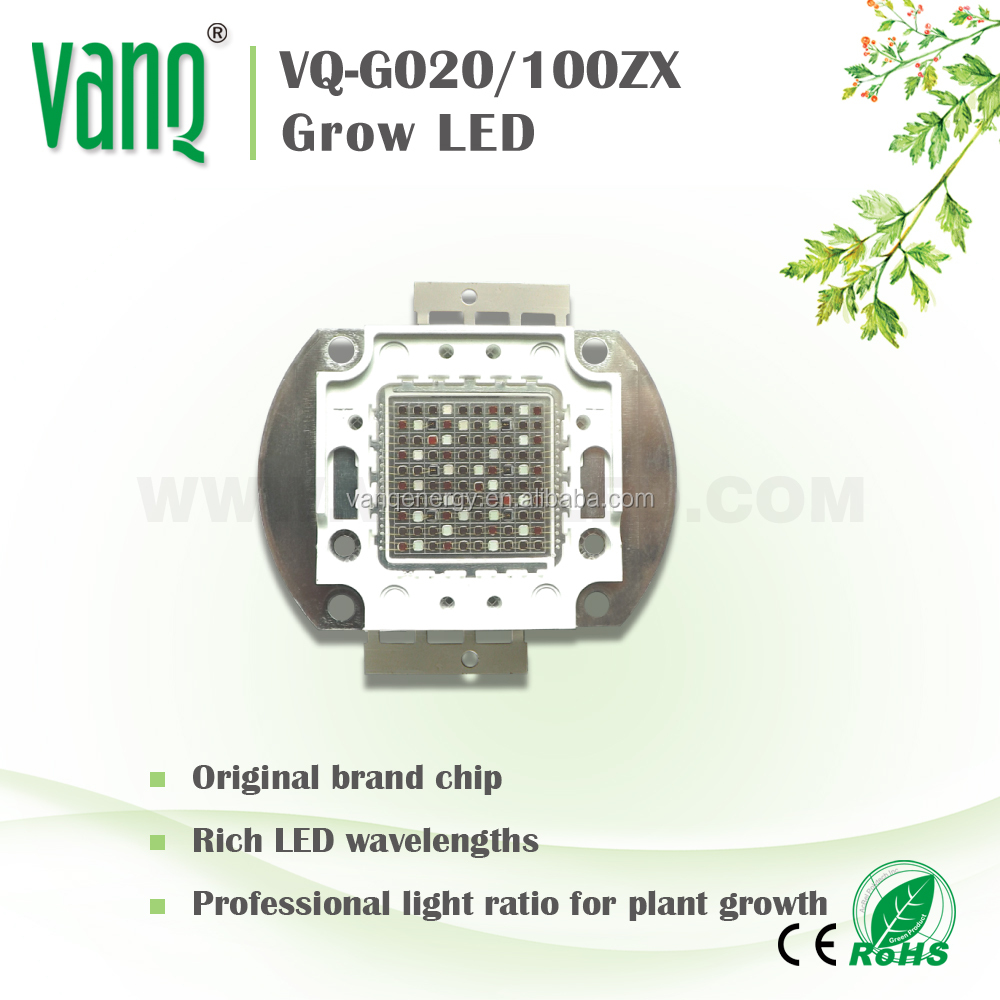 fewer led integrated chip 50w BridgeLux/Epileds led for grow light in UK