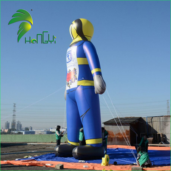 30Ft Giant Air Tube Man Model Replica Inflatable Cartoon 10M Fire Man for Event Display