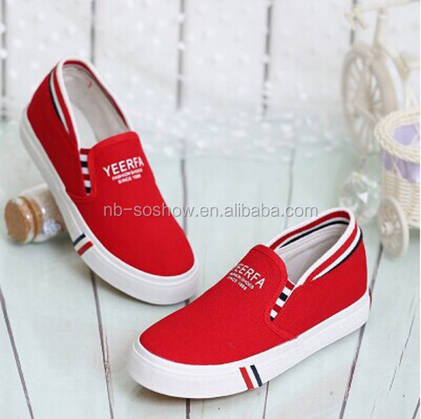 cheap plain white canvas slip on shoes wholesale view