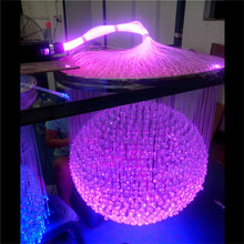 Hall decoration fiber optic chandelier with a ball shape light, banquet hall lighting