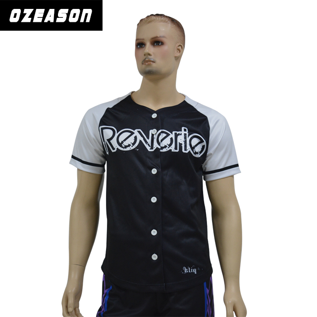 Hot sale sewing pattern baseball jersey,custom polyester dri fit baseball costume
