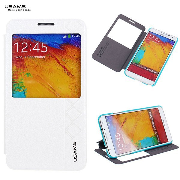 For Samsung Galaxy Note 3 USAMS High Quality Flip Leather View Case Cover