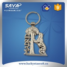 hollow out Madrid bear souvenir keyring