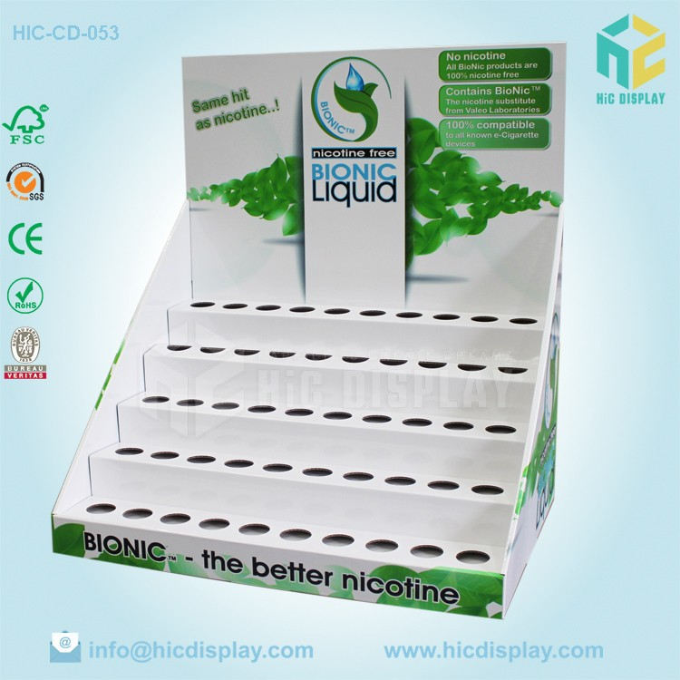 Paper material cardboard e liquid display, tablet display for e liquid