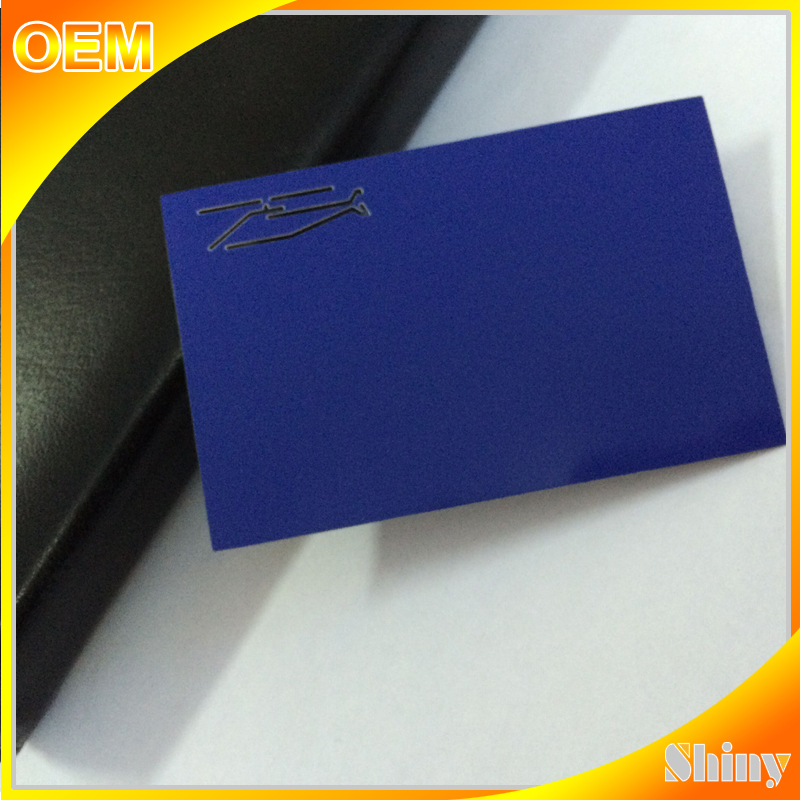 High quality personal offset printing metal business card for souvenir