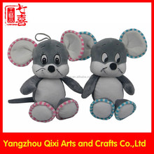 Wholesale stuffed animals cute mouse soft toy grey color stuffed mouse plush toy mouse