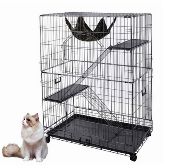 "online shopping 51""x35""x22"" Large Cat Pets Wire Cage 2 Door"