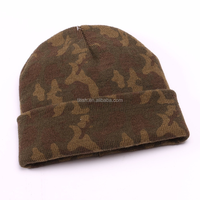 Camouflage Winter Knitted hat fashion beanie hat