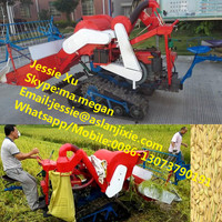 High efficiency paddy rice combine harvesting machine/mini grain harvester combine