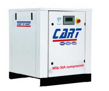 18.5KW 25HP China energy saving belt driven Industrial rotary screw air compressor 15kw/20hp machine of anqing cart