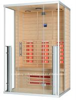 2012 new transparent glass sauna wood house 12-K60
