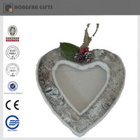 foam christmas heart shaped hanging decorations