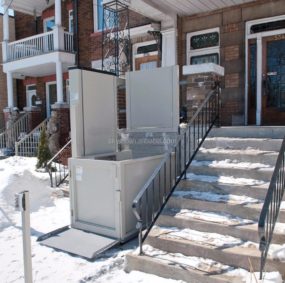 Casa elevador vertical silla de ruedas de la plataforma for Plataforma para silla de ruedas