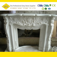 Western italian victorian marble corner fireplaces