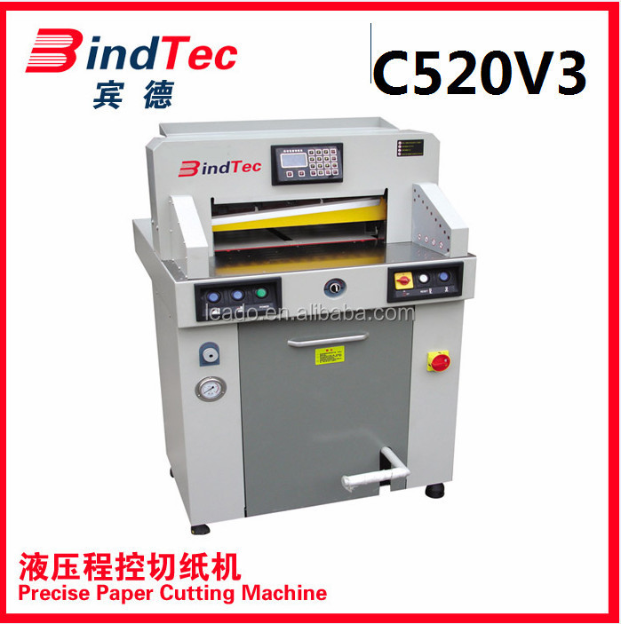 BD-520V3 Electrical Programmed digital guillotine paper cutter