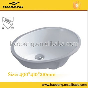 cUPC Ceramic wash basin/undermount ceramic bathroom sink/undermount ceramic sink
