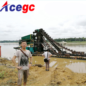 China gold digger machine / gold dredge float for sale