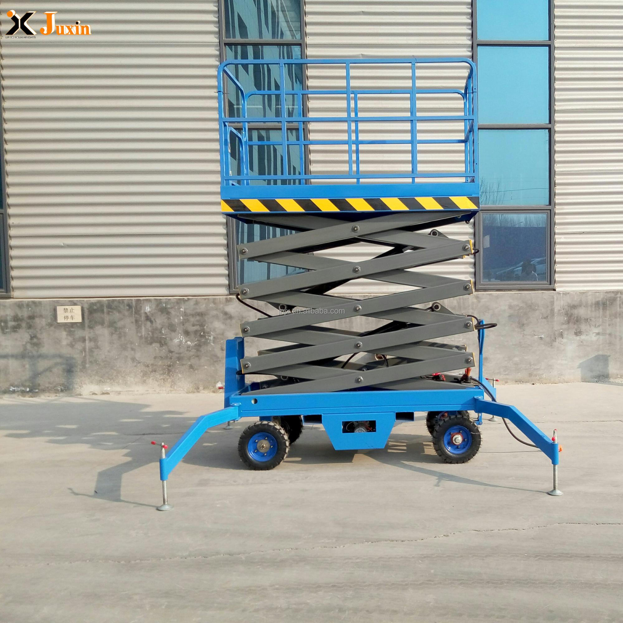 6-18m china best selling 500kg indoor outdoor hydraulic scissor lift elevator with professional drawing