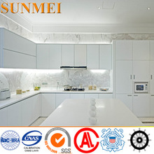 OEM Modern Design Food-grade laminate aluminium kitchen cabinet doors