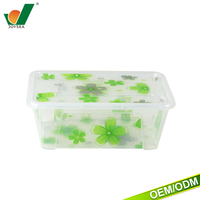 Plastic translucent pattern can be customized logo food containers microwave food container