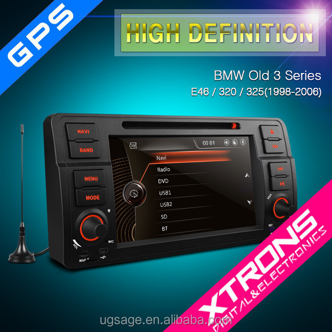 "PF7146BGTD - 7""1080P Video Digital Touch Screen DVD Player Bulit-in MPEG-4 TV with GPS canbus For E46 BMW 3 Series"