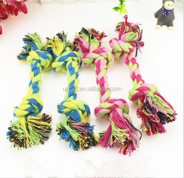 Durable Dog Pet Toys Nontoxic Cotton Ropes Knots Puppy Teddy Training Dogs Supplier Pet Bone Chew Rope