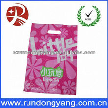 Plastic Handle Bags Retail Shopping Gift hot pink Small