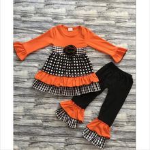 Fashion Girl's Halloween Set Kids 2 Pcs Clothing Set Smocked Baby Cotton Outfit