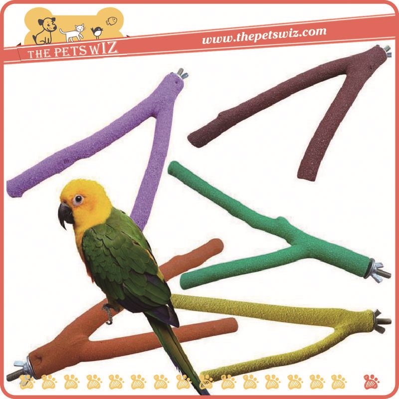New Design popular color rope wooden parrot bird chewing toys ,p0w5b with perch swing pet bird toy for sale