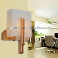 ODSEN cube glass wooden fancy decorative wall lamp for home and hotel
