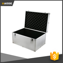 Hot Sale Fashion Silver Aluminum Hard Case Tool Box with Internal Divider