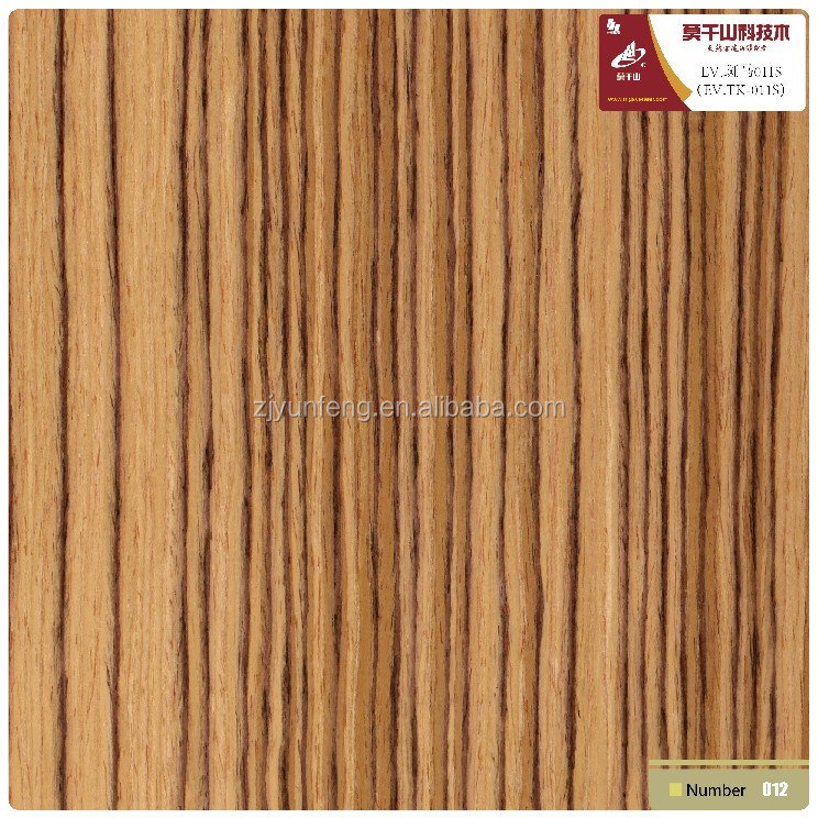 engineered wood veneer zebrano 011s quarter cut straight decorative fancy plywood veneer