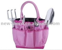 Pink 5 Piece Garden Tool Bag Gift Set