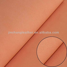 Suede pu leather/PU synthetic leather/Synthetic leather for shoes-Orange PU suede