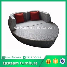 Outdoor garden furniture rattan heart daybed lounge chair daybed