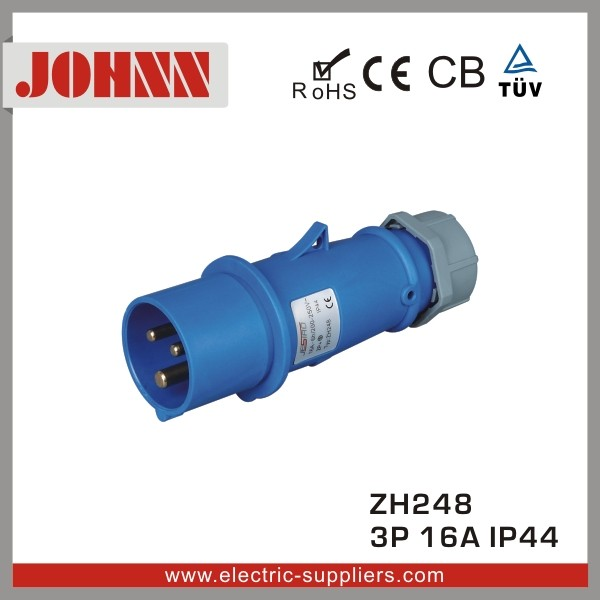 New Type ZH248 IP44 16A Male Industrial Plug