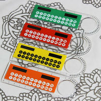 10cm ruler shape calculators for kids,thin calculator with ruler,solar calculator for students