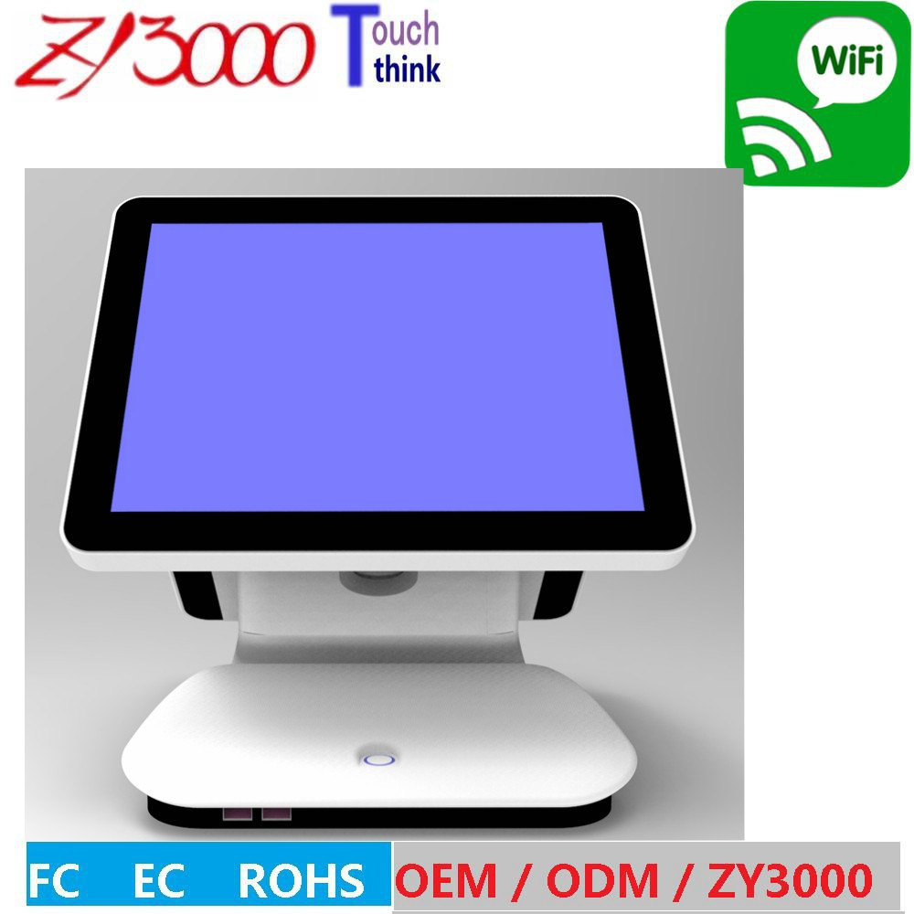 ZY3000 hot selling pos system 15 inch all in one touch screen pc for Coffee shop