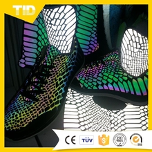 Colorful Reflective Stretch Fabric/Sheet for Shoes