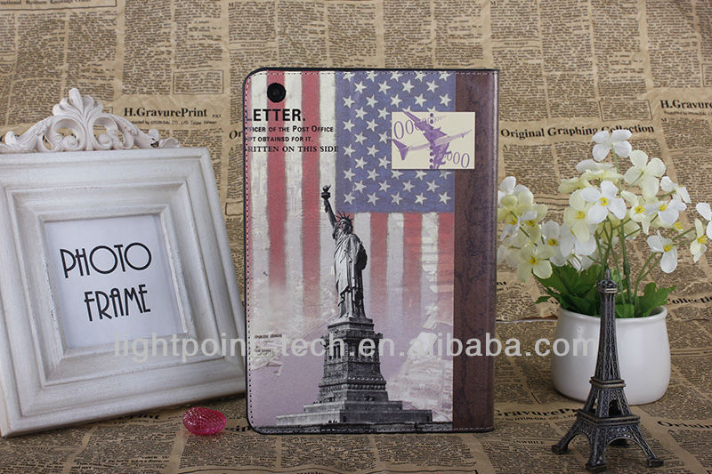 USA Statue of Liberty Leather case for ipad 4, for ipad 4 supplier, for ipad 4 manufactory