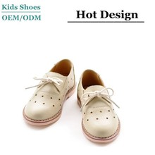New arrival formal apricot leather japanese style children shoes