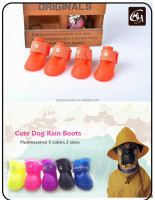 Cute Sporty Waterproof Puppy Carton Silicon Dog Rain Boots