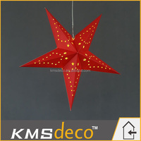 led paper star hanging type motif light/paper star lanterns indoor festival decoration