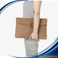 Custom Multifunction Felt Laptop sleeve Portable Bags Notebook Ultrabook Netbook Case Green